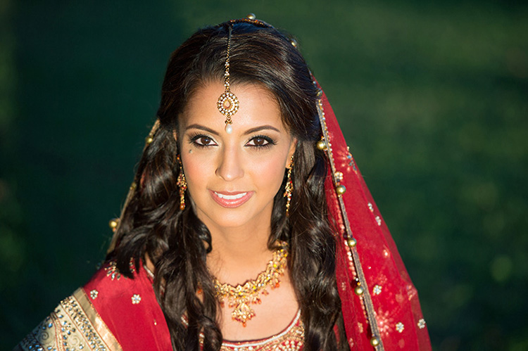 Los Angeles indian bride makeup and hair by Beauty Affair