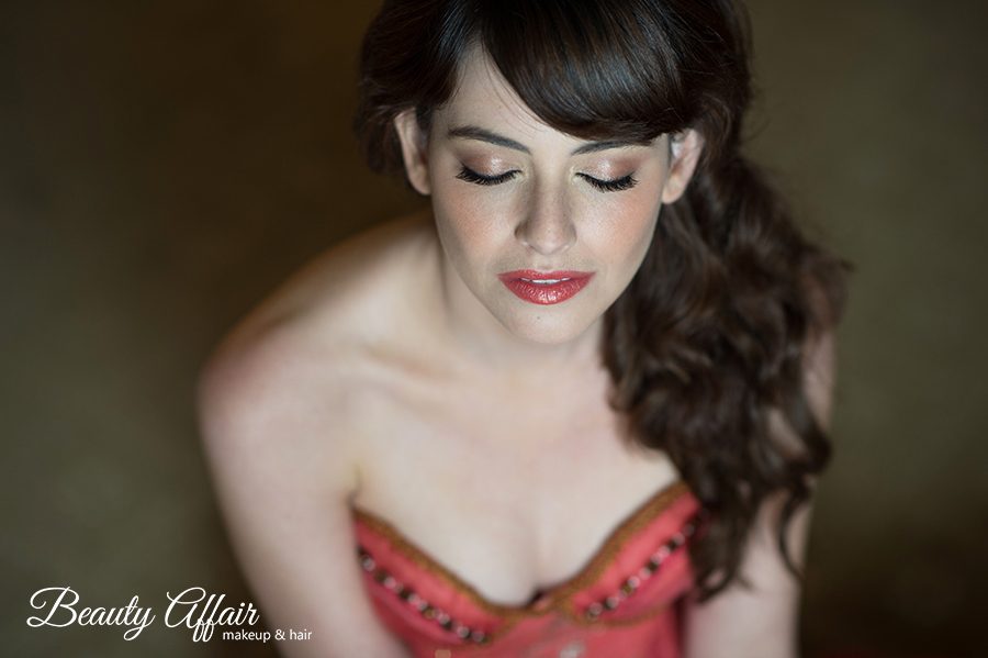 Bridal romantic makeup and hairstyle los angeles by Beauty Affair Agne Skaringa