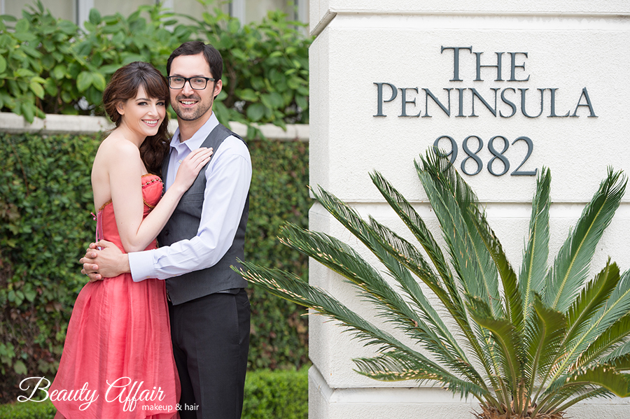 engagement session cute photo inspirtation coral dress beauty affair peninsula hotel