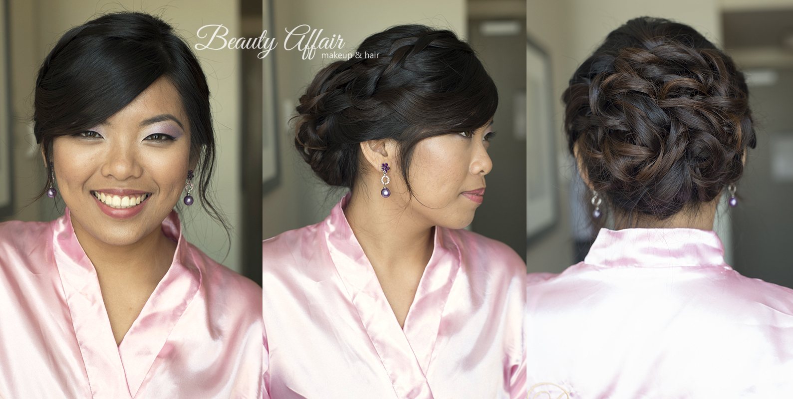 Beauty Affair makeup and hairstyling Los Angeles braid updo