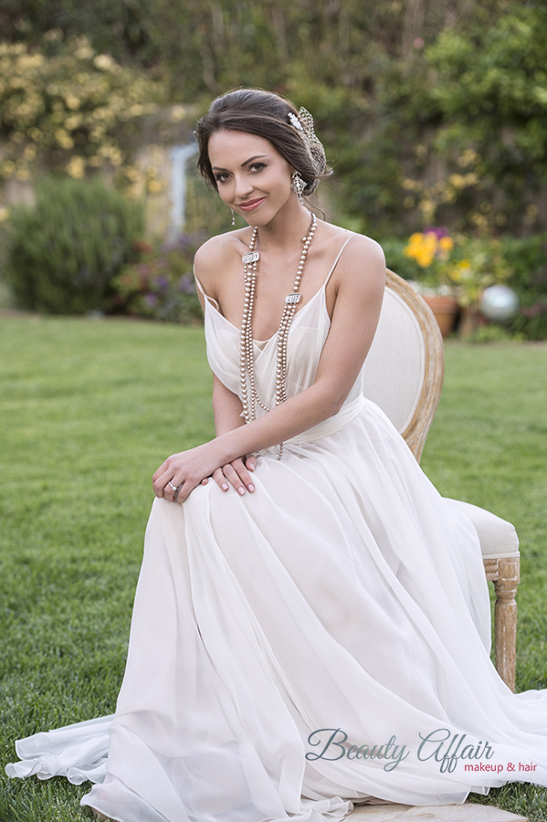 Beauty Affair bridal makeup and hair by Agne Los Angeles toussled updo pink lips copy