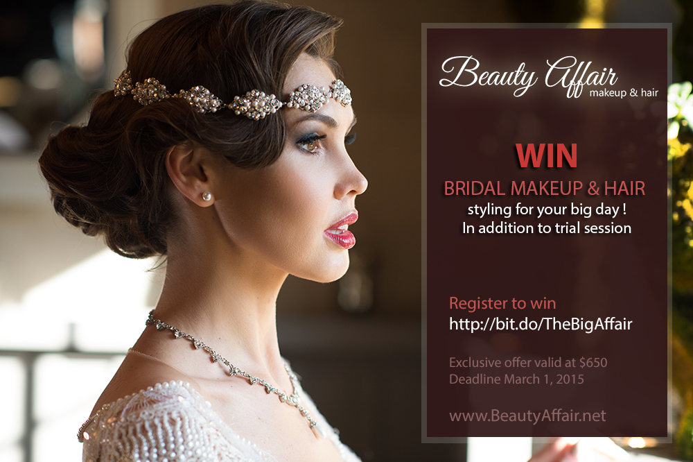 Beauty Affair Old Hollywood Glam bridal makeup and hair style win