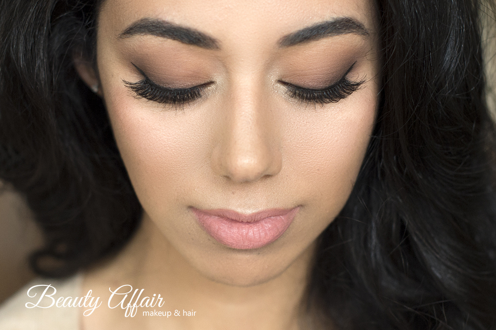 glam smokey eyes brown highlighting