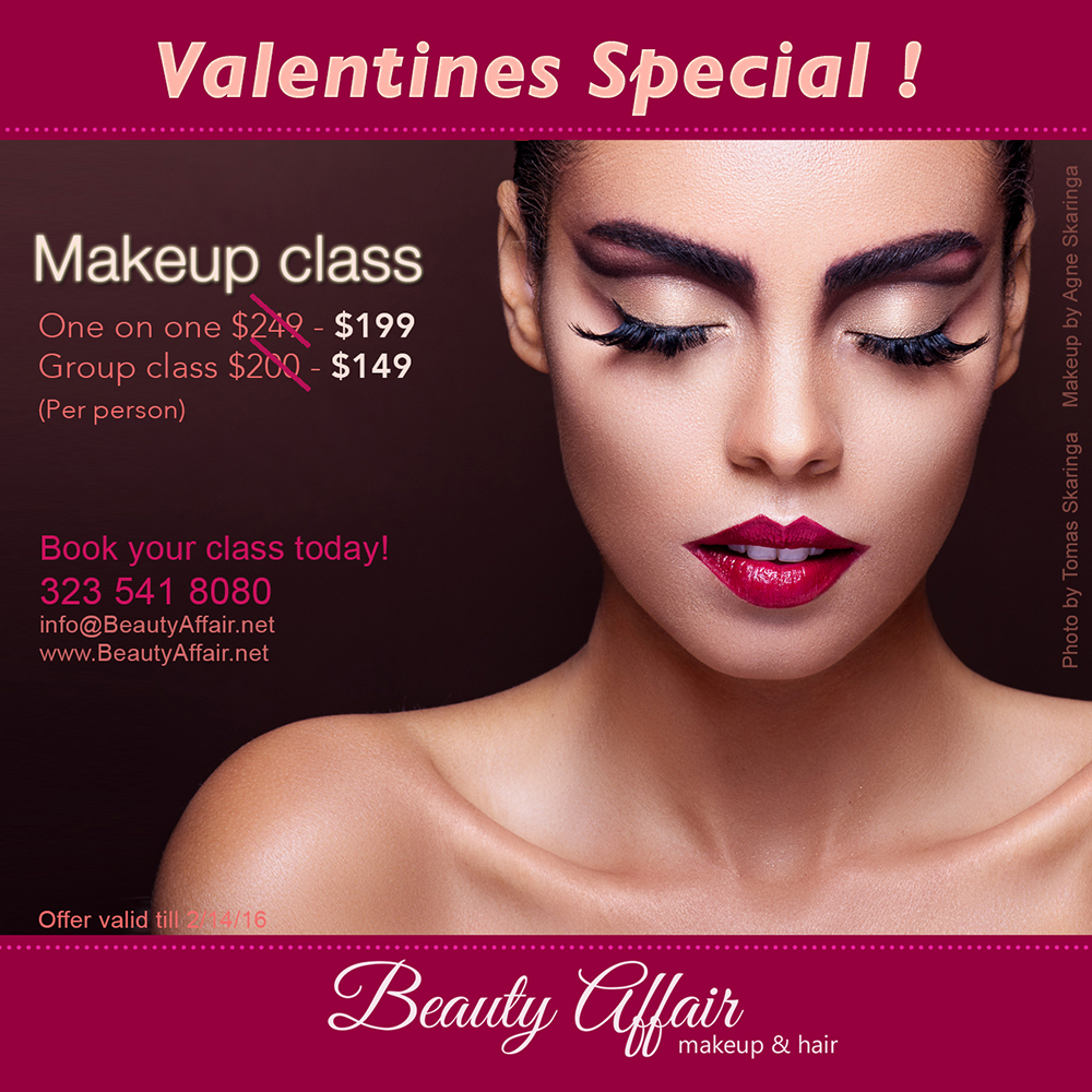 Valentine S Day Special Makeup Class Beautyaffair