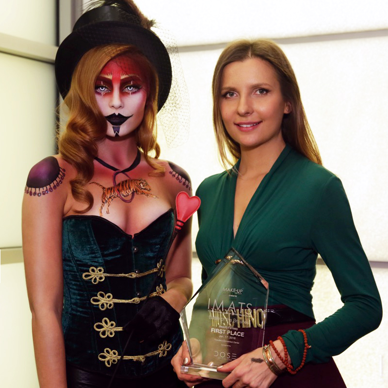 IMATS 2016 makeup artist first place winner Agne Skaringa battle of the brushes lithuanian body painter.jpg