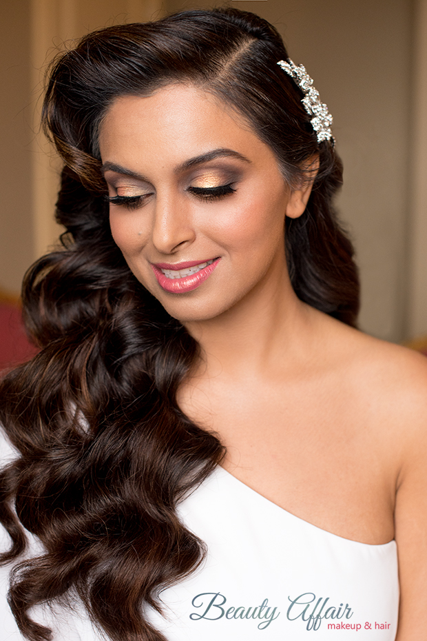 Indian gold bride smokey eyes makeup gold LA Los Angeles makeup artist pink Beauty Affair glam wave.jpg