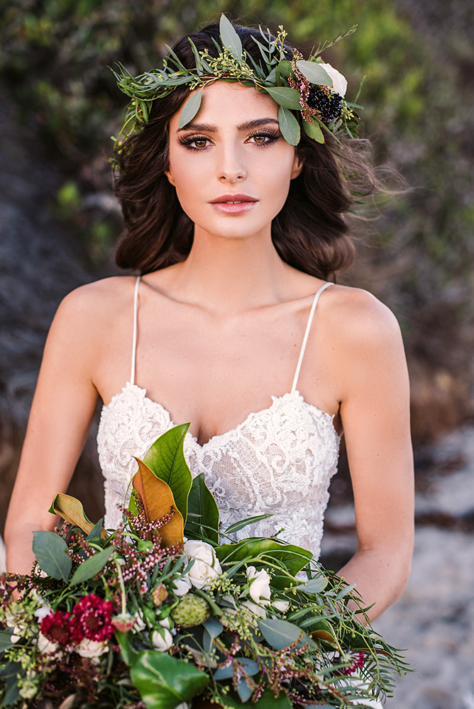 Galia Lahav boho glam bridal makeup and hair luxury glowing by Agne Skarina Beauty Affair LA photographer Tomas Skaringa.jpg