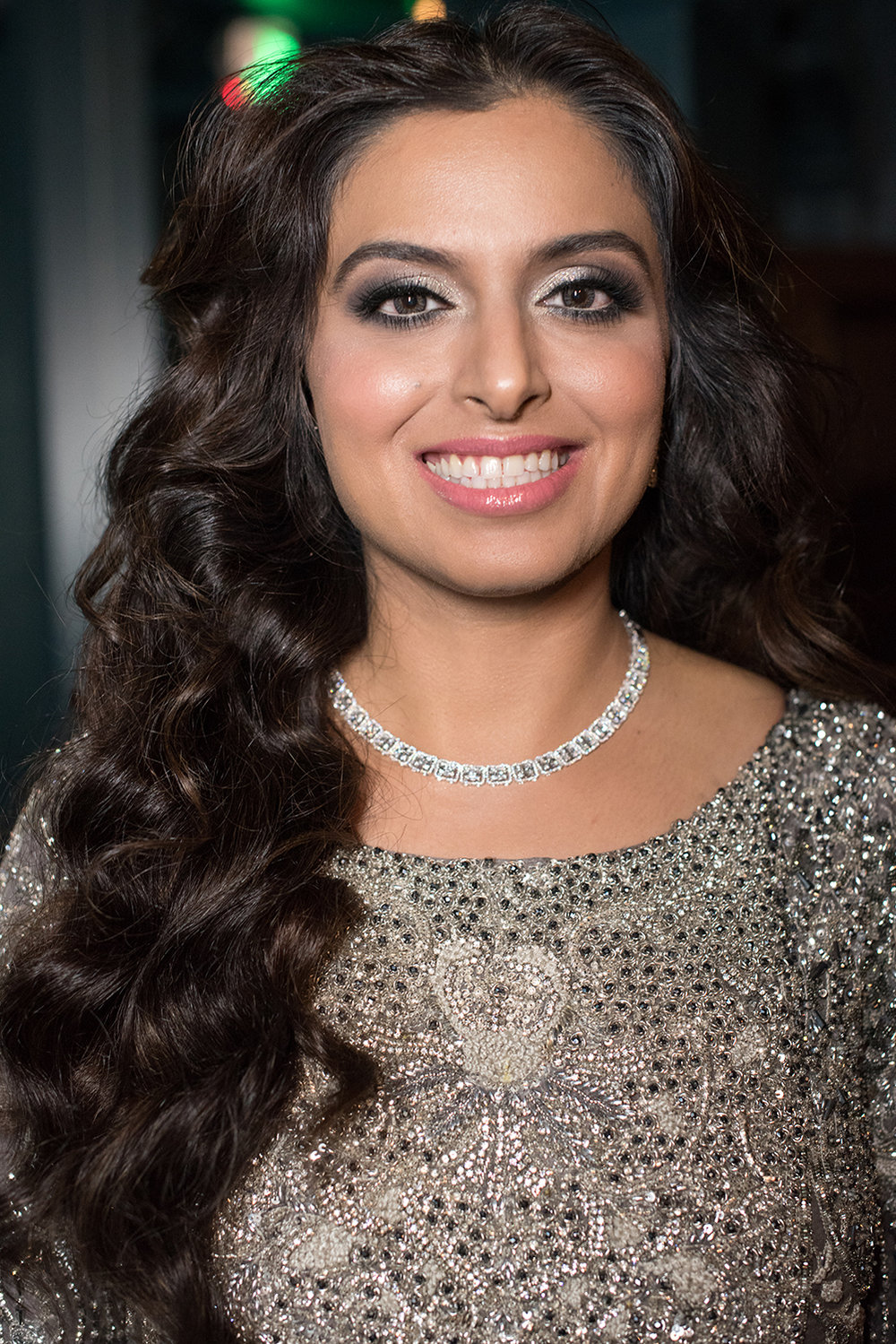 Airbrush Glamorous indian bride silver glitter eyeshadow grey black pink lips by Beauty Affair Agne Skaringa copy.jpg
