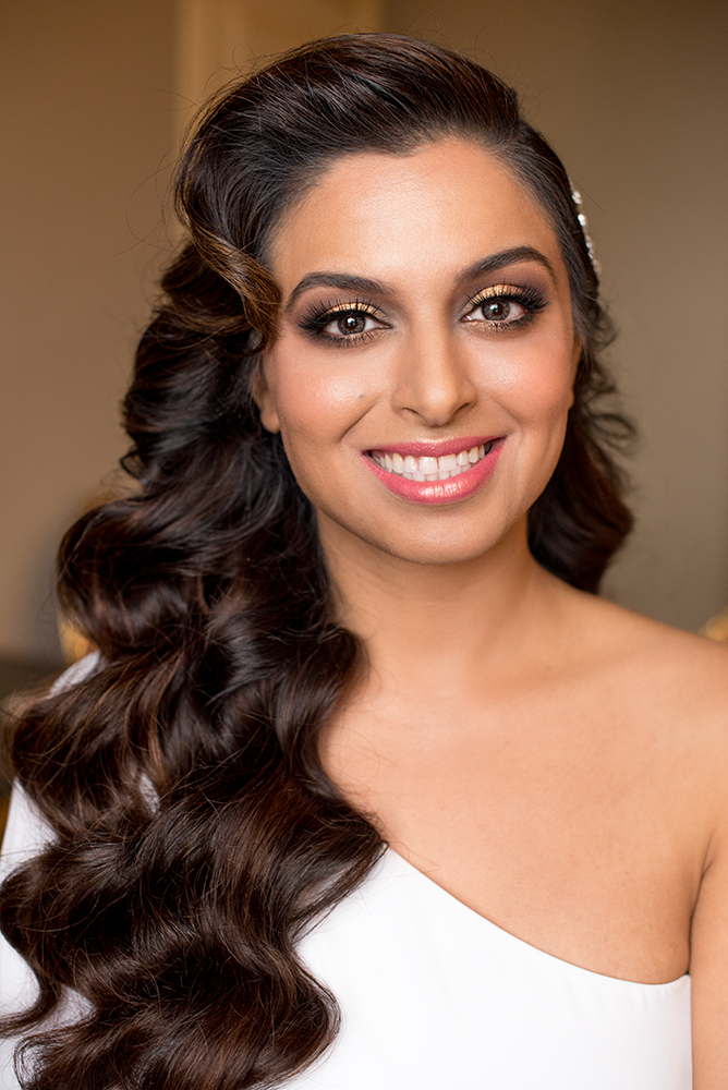 Indian bride smokey eyes makeup gold LA Los Angeles makeup artist pink Beauty Affair glam wave.jpg
