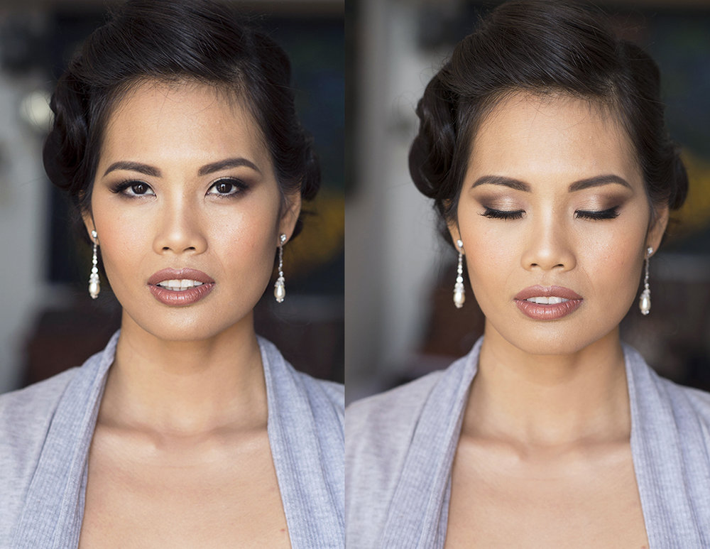 Beauty Affair birdal makeup goddess brown lips asian brown smokey eyes contouring glowing before and after.jpg