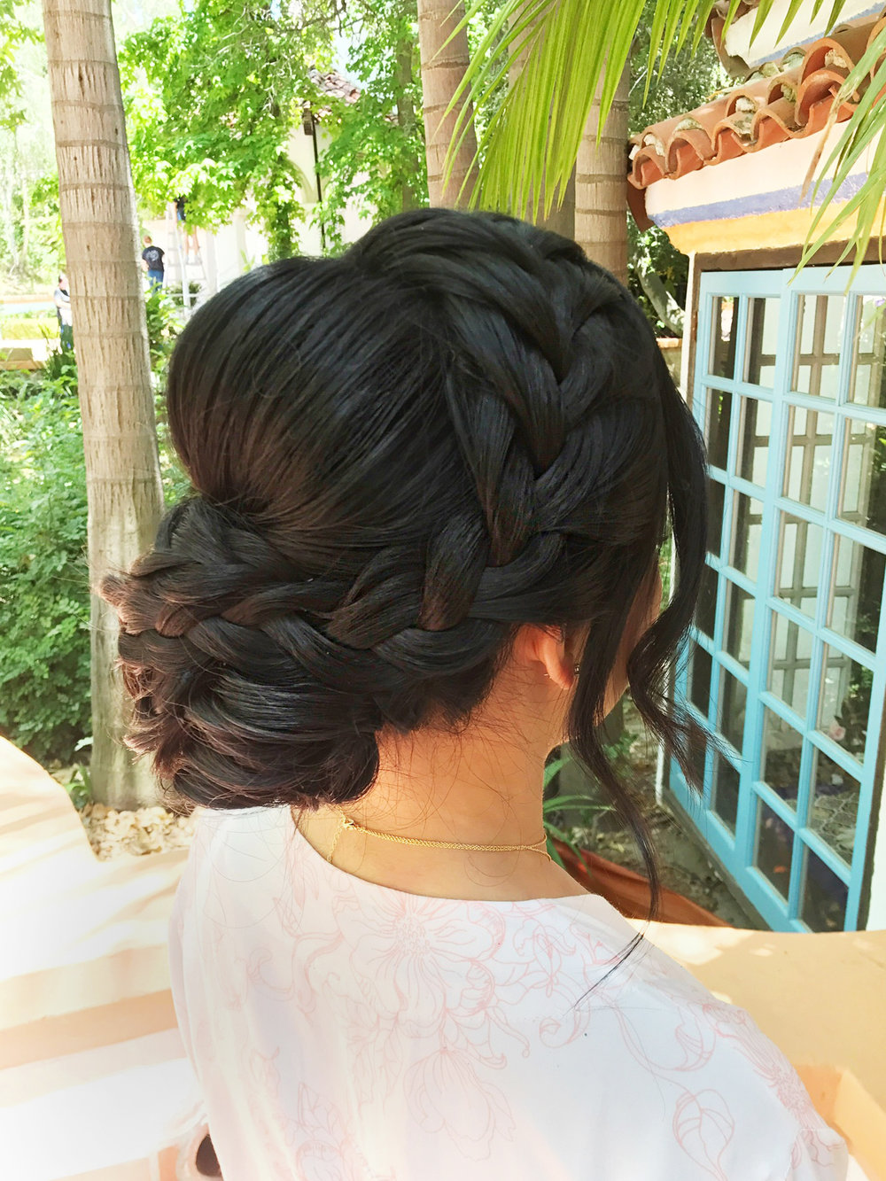 Braid updo hairstyle low bun beauty affair los angeles.JPG