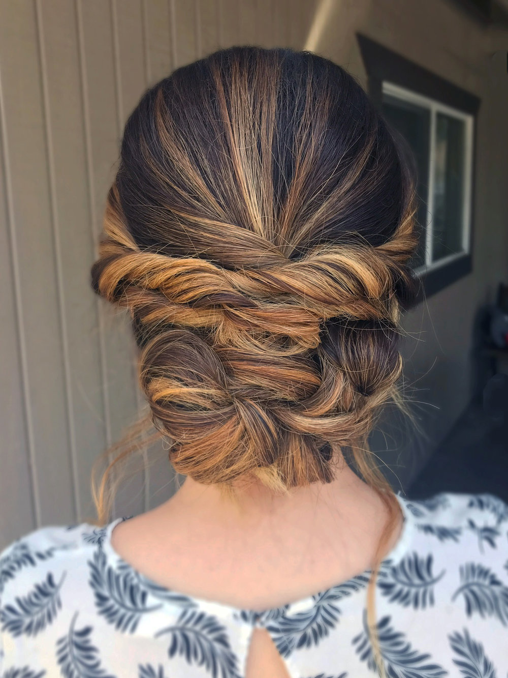 elegant romantic low updo beauty affair la hairstylist.JPG