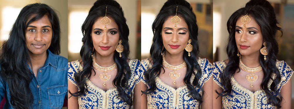 South Asian bride indian Bridal blue red gold wedding Beauty Affair .jpg