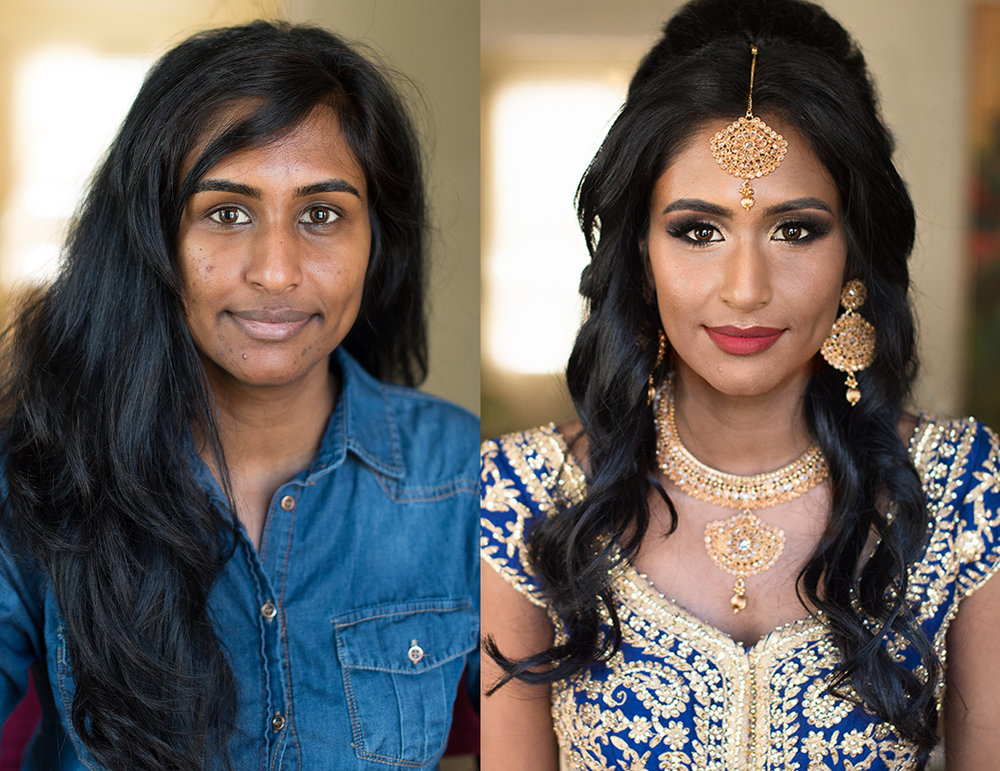 South Asian bride before after indian Bridal Tiblury wedding Beauty Affair .jpg