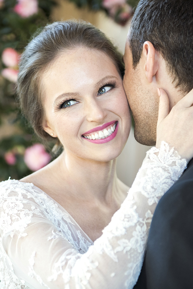 Smile pink lipstick blue pale skin bride makeup hair wedding.jpg