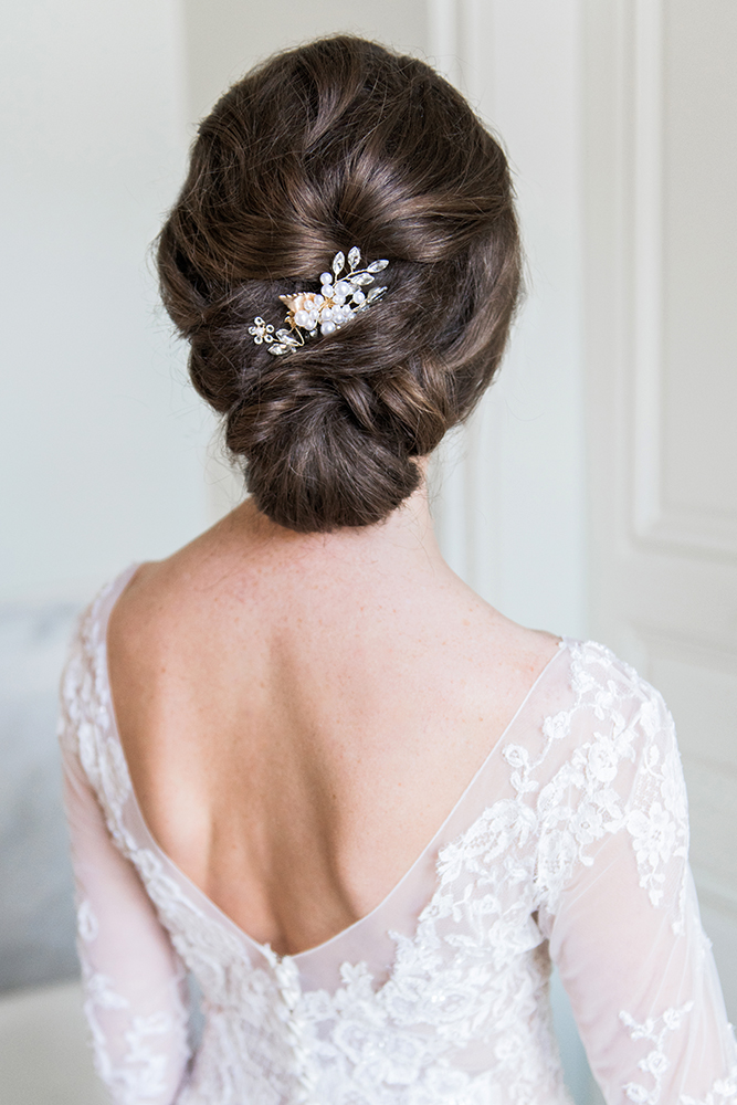 Low bridal updo romantic LA Los Angeles Beauty Affair.jpg