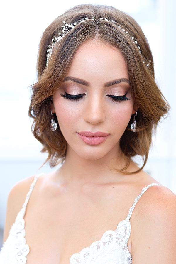 glam rose glowing makeup smokey eyes Bridal hair bronzy by beauty Affair.jpg