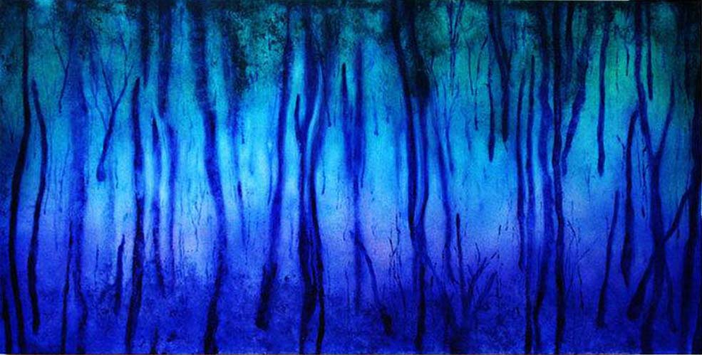 Forest Mist - Acrylic on steel panel