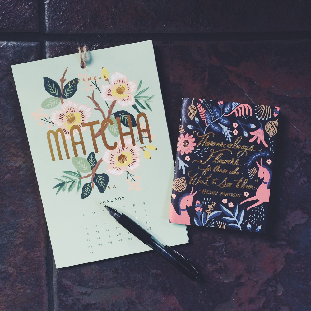 Rifle Paper Co. calendar + notebook // emilyfisk.com