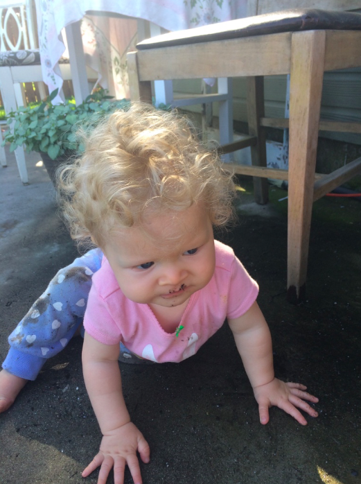 """Today during outside play, I learned that dirt tastes horrible."""