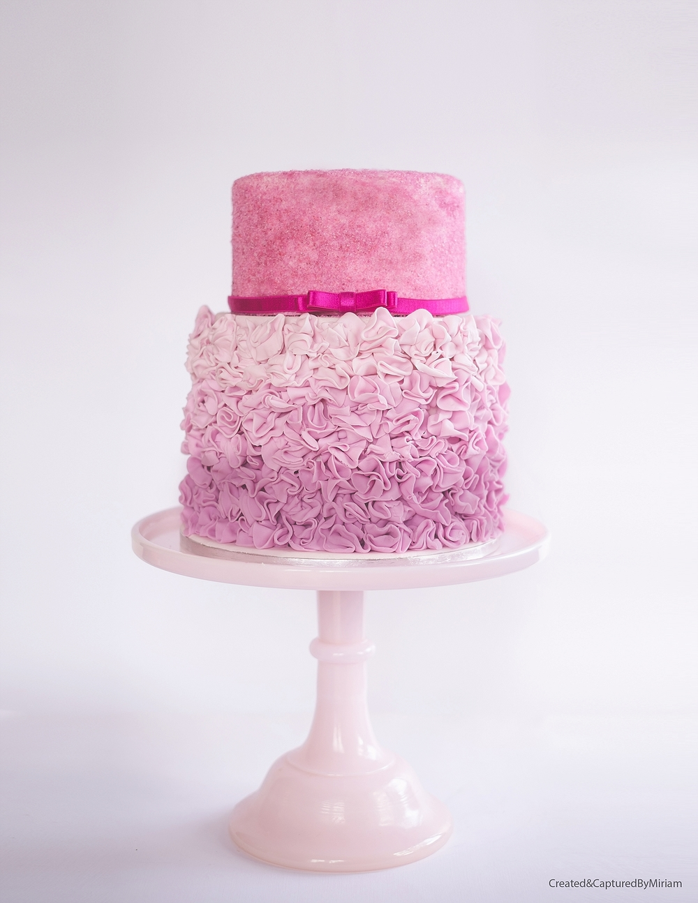 Pink Ruffles And Sparkles Cake