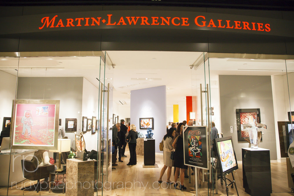 Martin Lawrence Galleries: Kostabi Opening