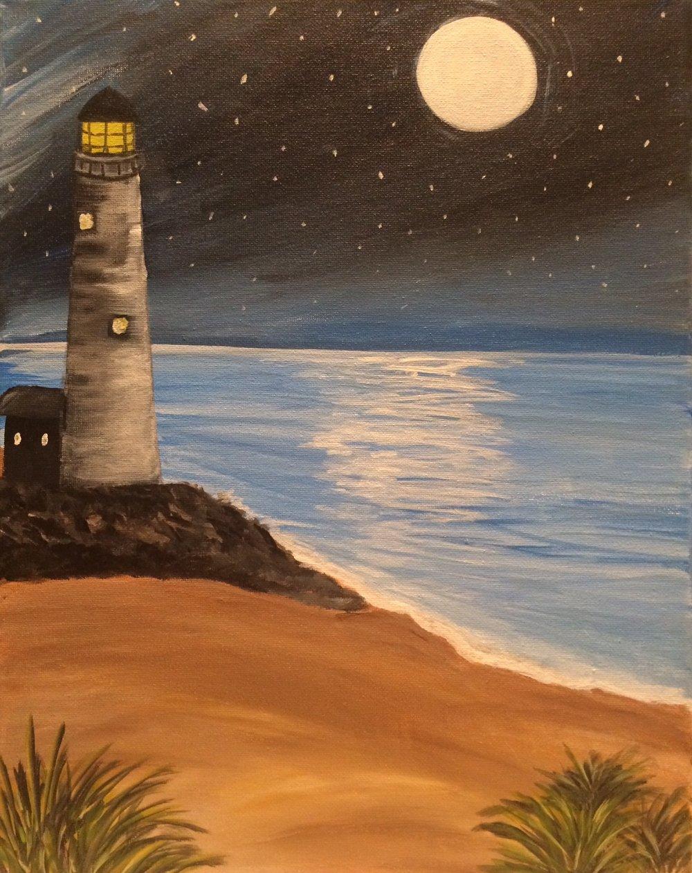 Moonlight lighthouse