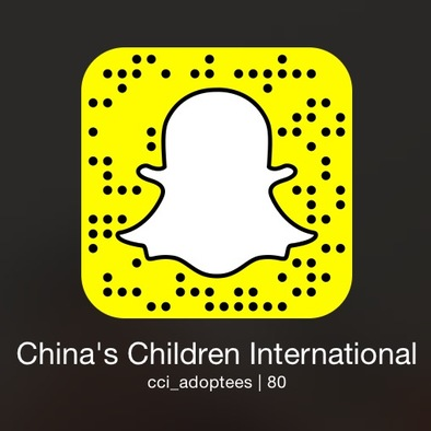 Add us with this Snap code or search for us  @cci_adoptees !
