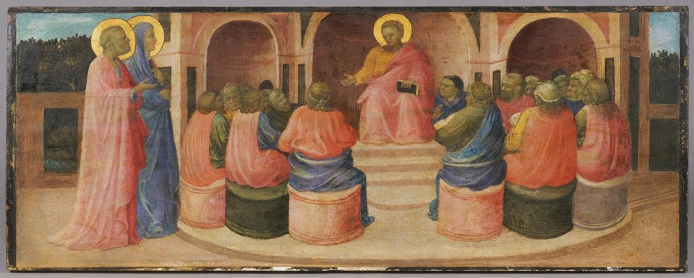 Christ Among the Doctors  , c. 1427-1430, by Giovanni Toscani, Italiain from the  Philadelphia Museum of Art