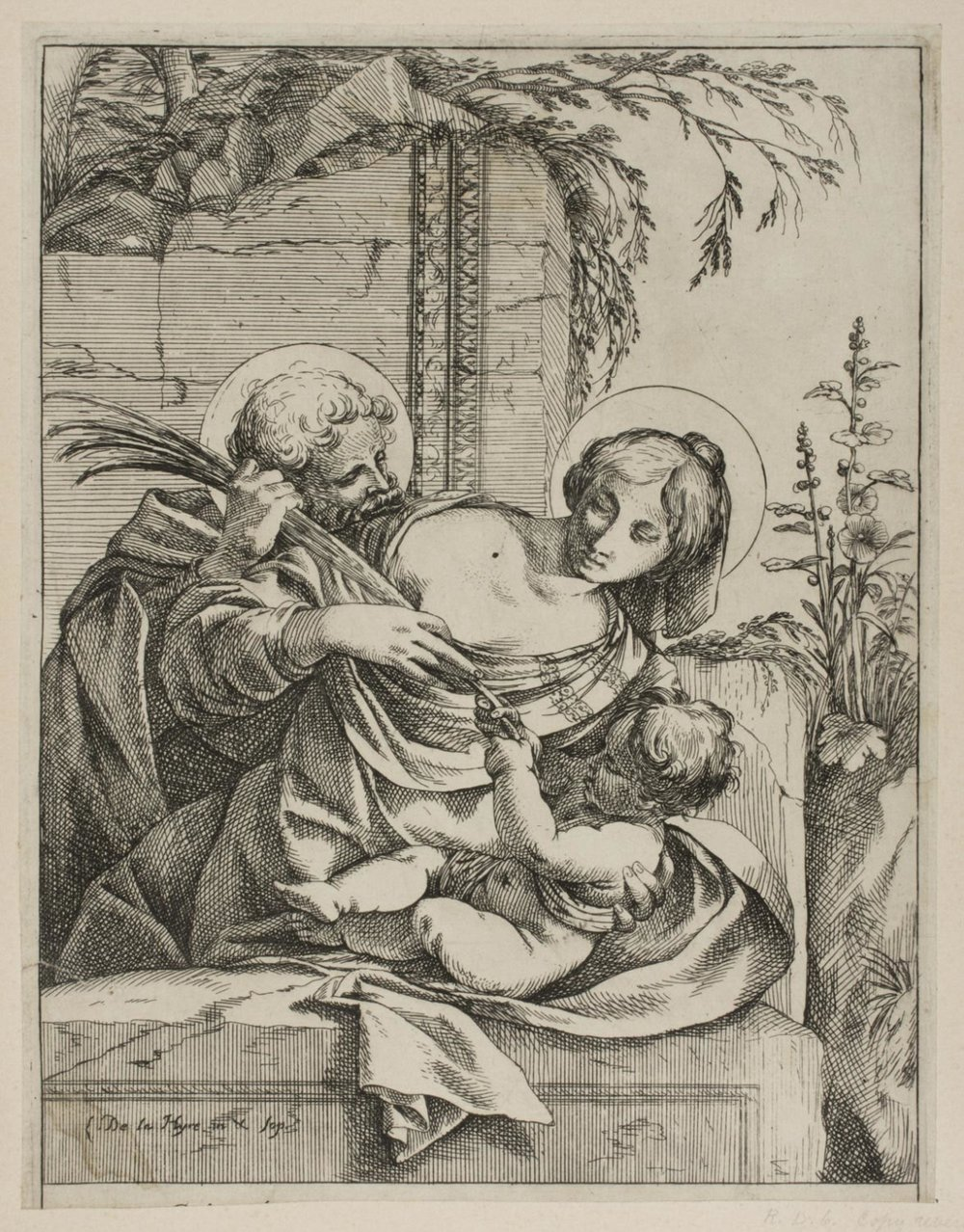 Holy Family with the Palm  , c. 1639, by Laurent de La Hyre, French from the  Philadelphia Museum of Art