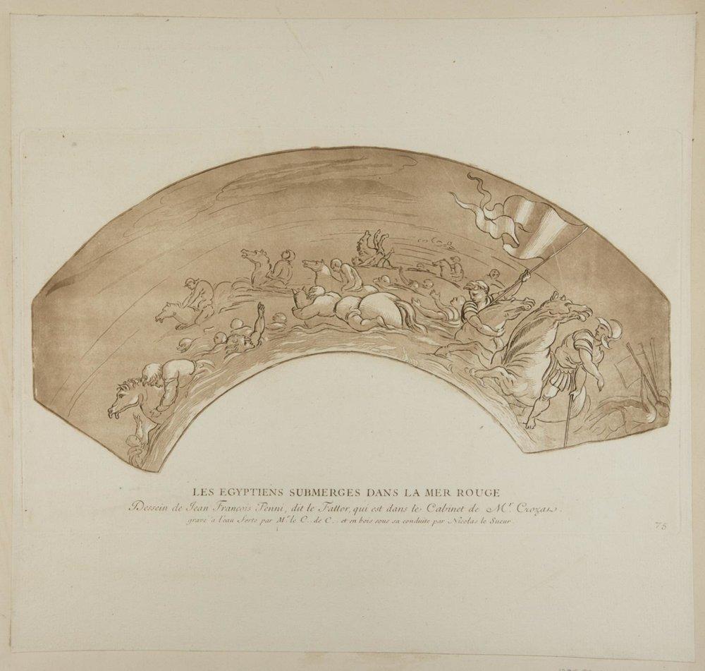 Les Egyptiens submerges dans la mer rouge  , c. 1729, by Comte de Caylus, French from the  Philadelphia Museum of Art