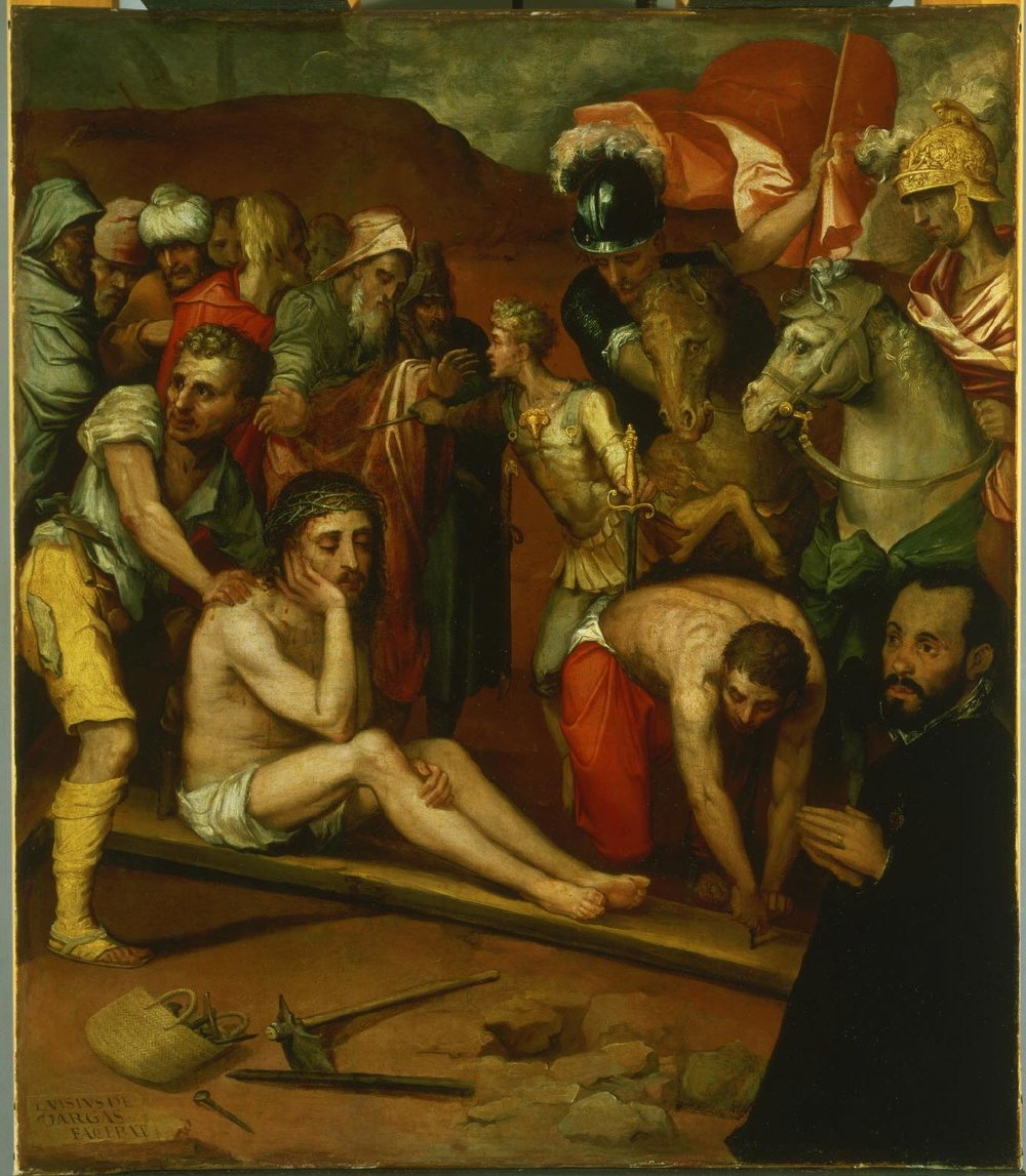 Preparations for the Crucifixion  , 16th century, by Luis de Vargas, Spanish from the  Philadelphia Museum of Art