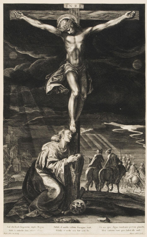 The Crucifixion,   1590-1625, by Aegidius Sadeler II, Flemish from the  Philadelphia Museum of Art