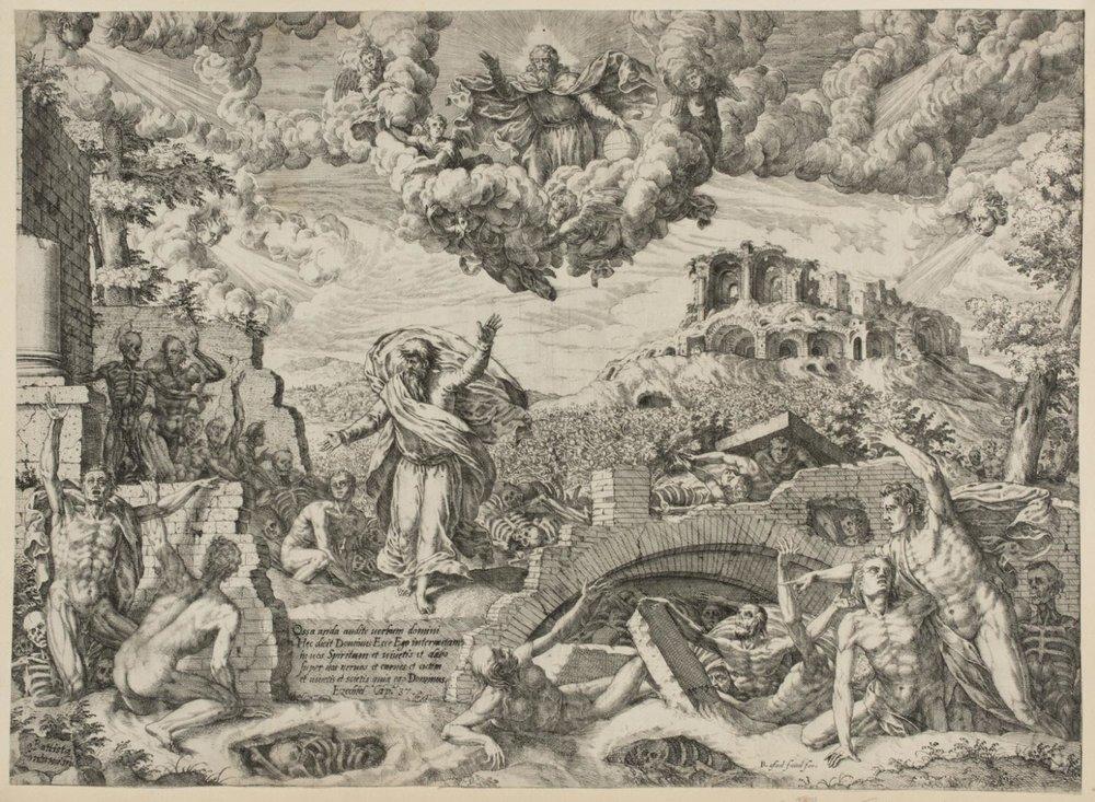 The Prophet Ezekiel  , 1579, by Giovanni Battista Fontana, Italian from the  Philadelphia Museum of Art