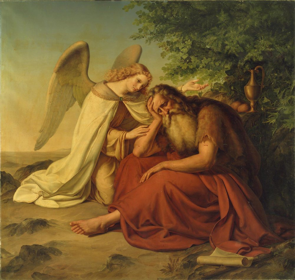 Elijah in the Desert  , 1834, by Moritz Berendt, German from the  Philadelphia Museum of Art