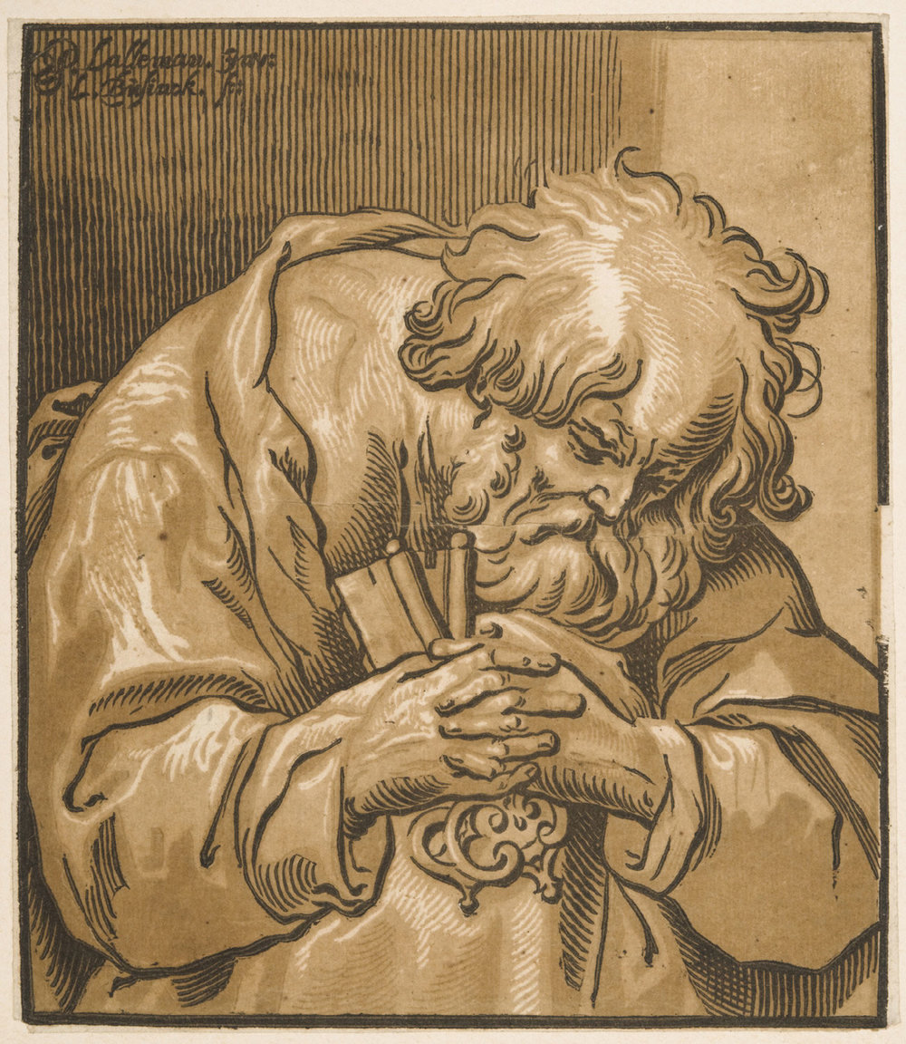 St. Peter Repentant,   Mid- 17th century, by Ludolph Büsinck, German from the  Philadelphia Museum of Art