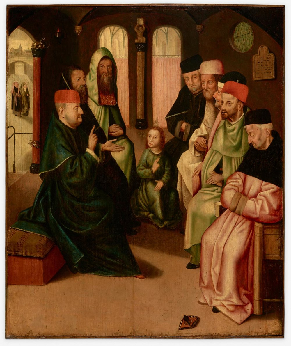 Christ Among the Doctors  , 16th century, Copy after Hieronymus Bosch, Netherlandish from the  Philadelphia Museum of Art