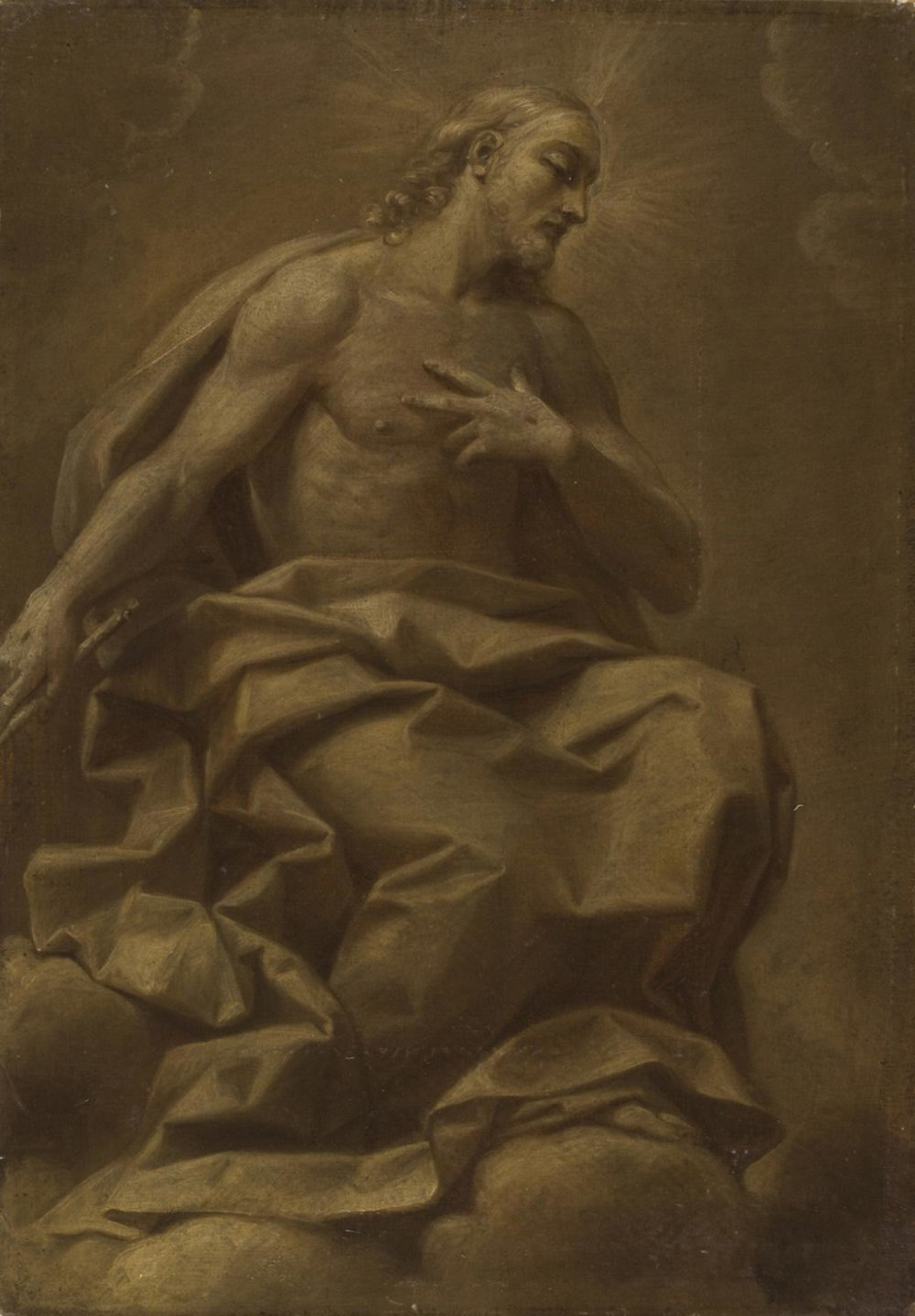Christ in Glory  , 1700, by Giovan Gioseffo dal Sole, Italian from the  Philadelphia Museum of Art