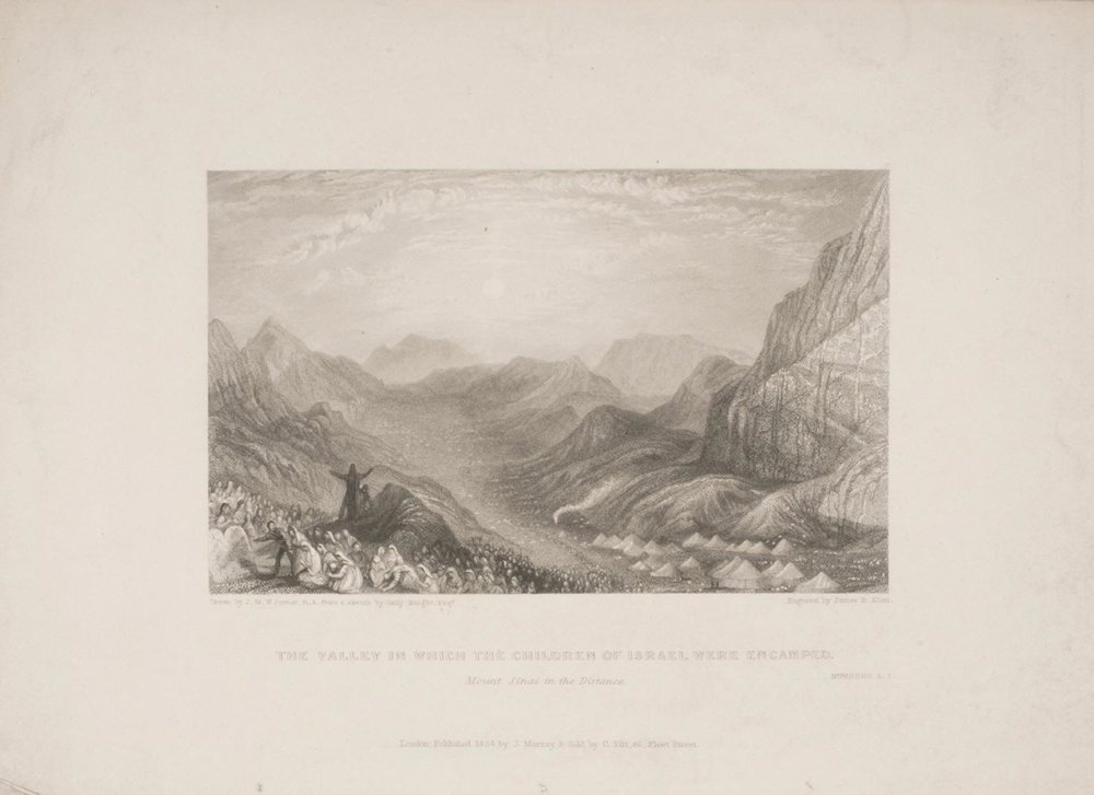 The Valley in which the Children of Israel were Encamped  , 1834, by James Baylie, English from the  Philadelphia Museum of Art