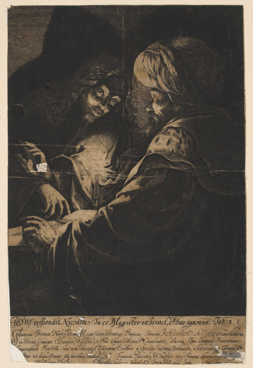 Christ Responding to Nicodemus  , 17th century, by Augustin John, German from the  Philadelphia Museum of Art