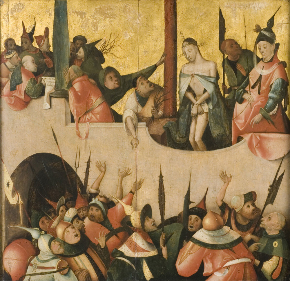 Ecce Homo  , 16th century, by Attributed to Hieronymus Bosch, Netherlandish from the  Philadelphia Museum of Art