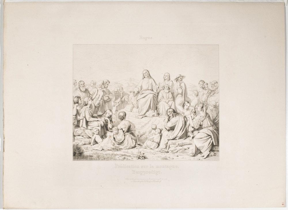 Sermon on the Mount  , ca. 1836-1839, by Carl Funke, German from the  Philadelphia Museum of Art