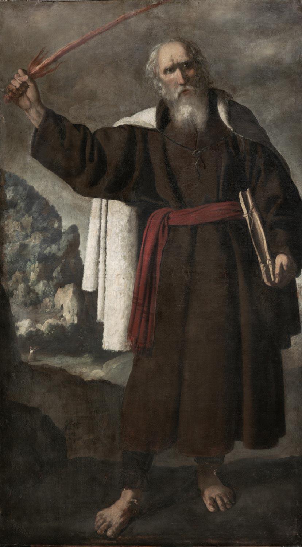 The Prophet Elijah  , c. 1640, by Francisco de Zurbaránand Workshop, Spanish,Origin from the  Philadelphia Museum of Art