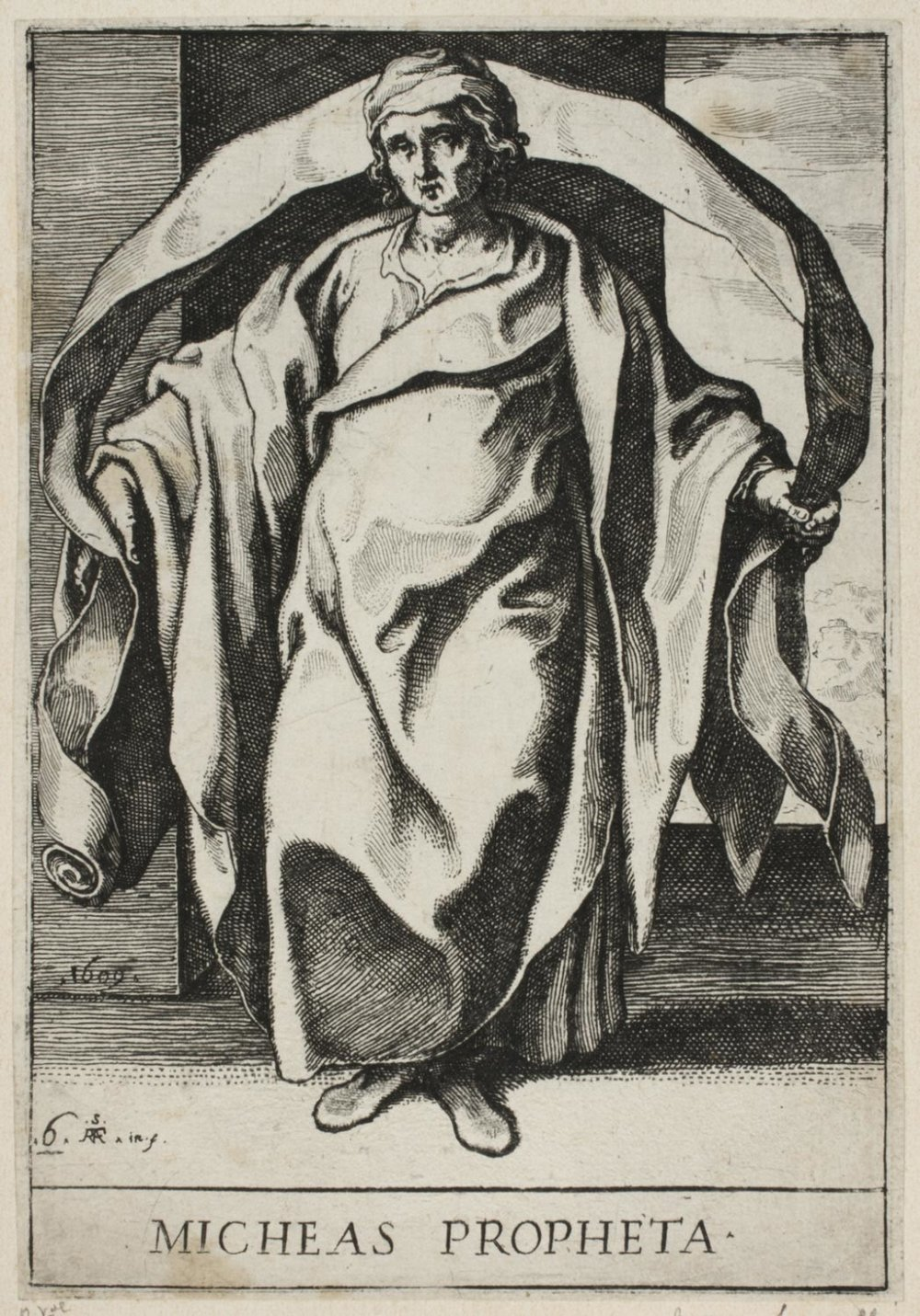 Micah  , 1609, by Raffaello Schiaminossi, Italian from the  Philadelphia Museum of Art