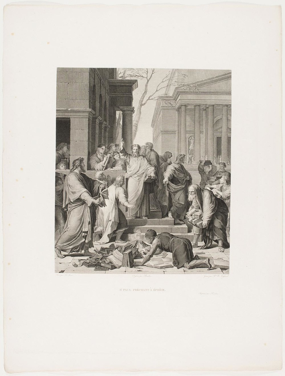 Saint Paul Preaching at Ephesus  , c. 1803, by Jean Baptiste Raphael Urbain Massard, French from the  Philadelphia Museum of Art