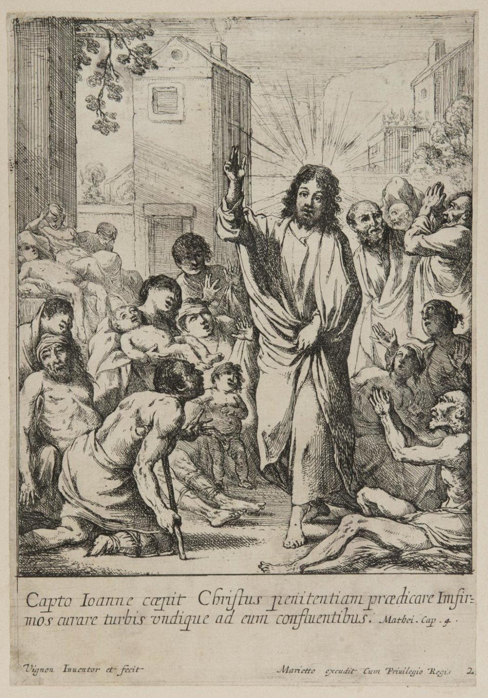 Christ Healing the Sick  , 1630s, by Claude Vignon, French from the  Philadelphia Museum of Art