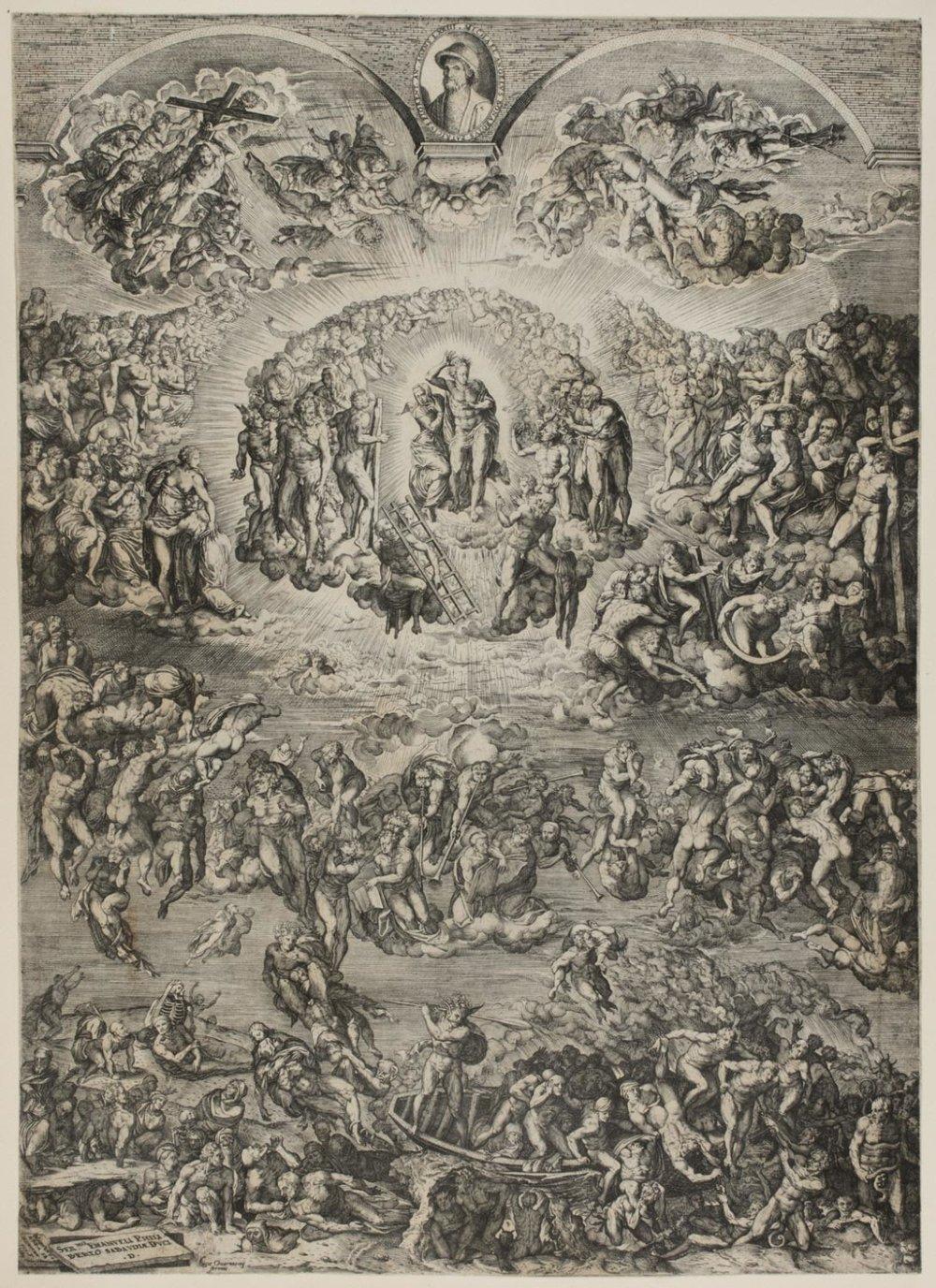 Last Judgement,   1569, Martino Rota, Italian, from the  Philadelphia Museum of Art
