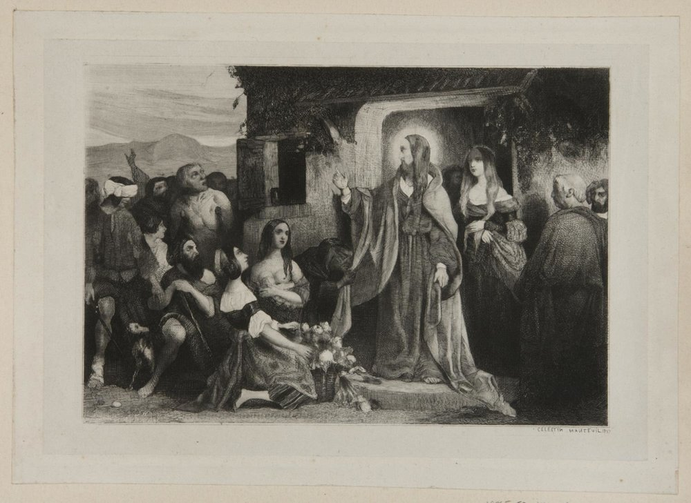 Christ Healing the Sick,    1837 , Célestin François Nanteuil, French from the  Philadelphia Museum of Art