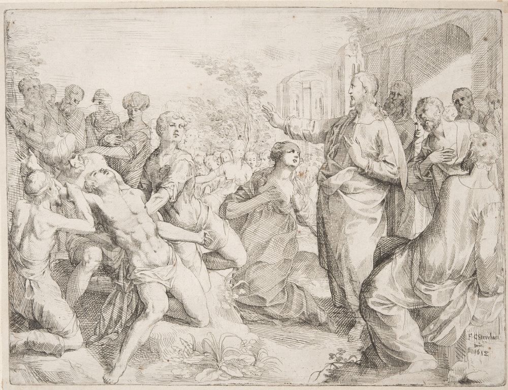 Christ Healing,   1612, Friedrich Christoph Steinhammer, German, from the  Philadelphia Museum of Art