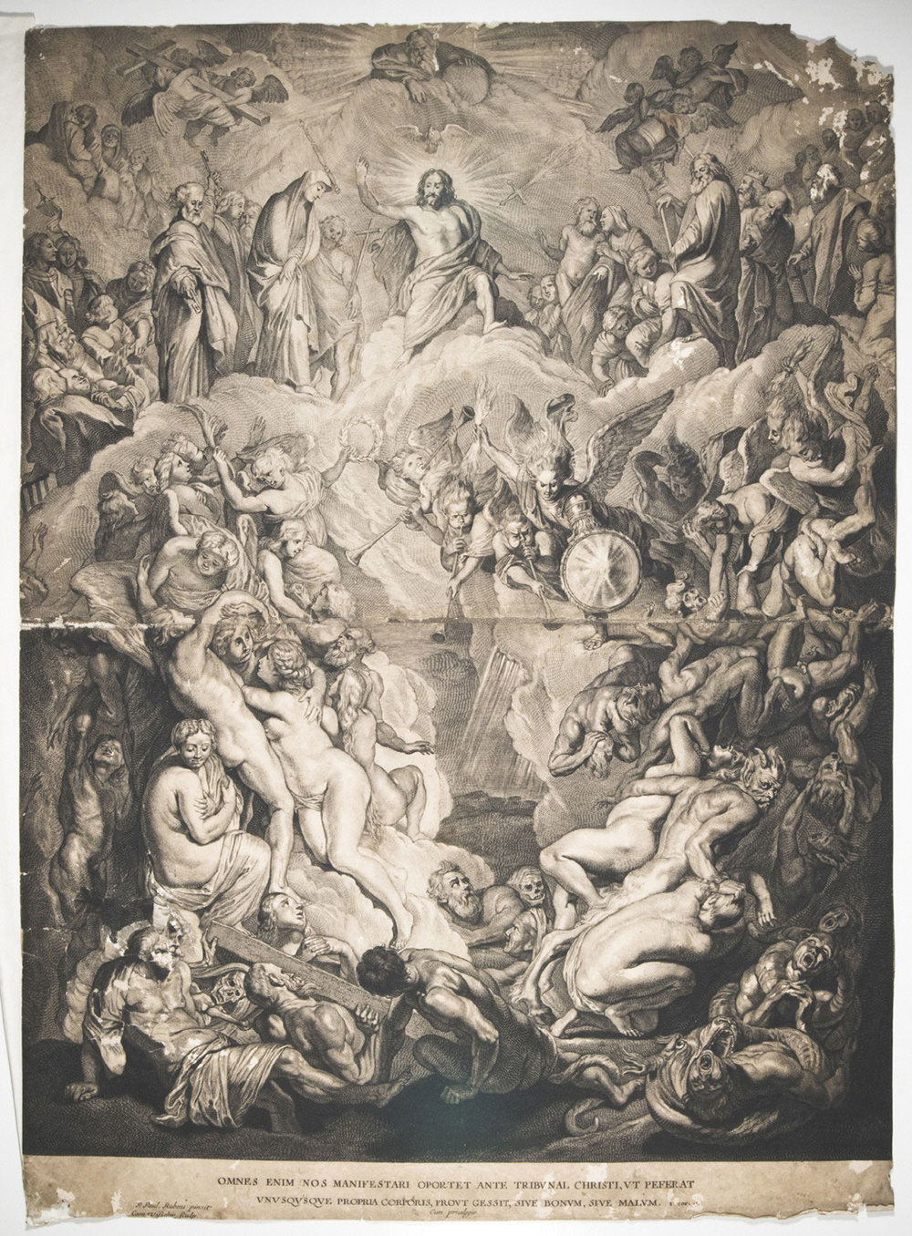The Last Judgement  , Mid- 17th century, by Cornelis de Visscher, Dutch, from the  Philadelphia Museum of Art